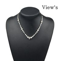 Wholesale New Arrival Beaded Pearl Alloy Necklace Sterling Silver Jewelry Fine Jewelry Fashion CZ Diamond Pearl Beaded Necklaces for Women