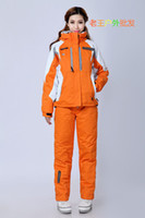 Wholesale outdoor skiing sports clothing shirt and trousers warm and windproof outdoor clothing