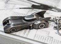 bat rings - 10pcs Super Hero Batman Dark Knight Bat Car Keychain The wheel Key Ring For Fashion Men Children Gift Movie Jewelry