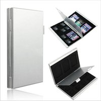 Wholesale 12 Slots Aluminum x TF x For SD Memory Card Storage Box Case Holder Protector
