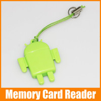 Wholesale Mini Android Card Reader Micro SD Card Phone TF USB Robot Card Reader Colorful up