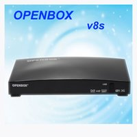 Wholesale Original Openbox V8S satellite receiver V8 support xUSB USB Wifi WEB TV Cccamd Newcamd YouTube Weather Forecast Biss Key with