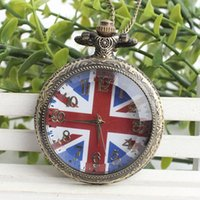 antique gift ideas - Fashion British Style UK Flag Vine Pocket Watch Gift Ideas A130