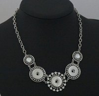 antique jewelry sale - 20 off on sale MM Snap Button Noosa Chain Necklace Women Antique Silver Jewelry for Party Jewelry drop shipping