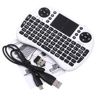 Wholesale Rii mini i8 Air Mouse Multi Media Remote Control Touchpad Handheld Keyboard for TV BOX PC Laptop Tablet Mini PC