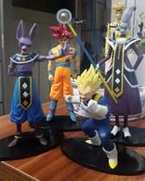 big movie theater - 4pcs set cm Dragon Ball battle of gods Theater version Super Saiyan vegeta Son Goku Kakarotto Action Figure toys
