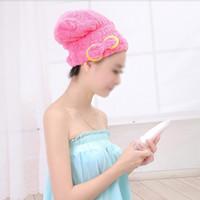 hair turban - Home Textile Useful Dry Hair Hat Microfiber Hair Turban Quickly Dry Hair Hat Wrapped Towel Bathing Cap W347