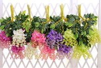 Wholesale 1 Meter Long Elegant Artificial Silk Flower Wisteria Vine Rattan For Wedding Centerpieces Decorations Bouquet Garland Home