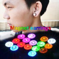 screw back earrings - LED Clip on Earrings Earrings Return and screws Stainless Steel LED FLash Magnet Earring Eashion Jewelry Novelty Dance Party Bar