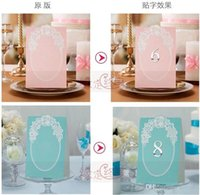 Wholesale 100Pcs Wedding Style Wedding Invitation Card Stickers Labers Tags Wedding table Number clip desk to sign Number To