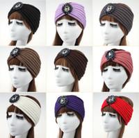 band korean hairband - Korean Women s Fashion Wool Crochet Headband diamond knitting Hair band Knitted Turban headband for women hair band hairband