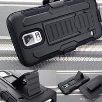 Para Samsung Galaxy S5 Armadura Funda Funda Impacto Híbrido Impacto Híbrido Cinturón de la cubierta Clip Kickstand Combo Fit S V I9600 G900 Nuevo