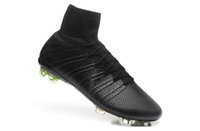 real football boots - 2015 New Arrival Super Light Cristiano Ronaldo CR7 High Cut Soccer Football Boots Shoes Cleats Real Carbon Fiber Bottom Blackout