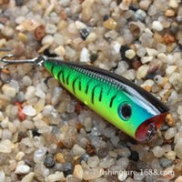Wholesale 6cm g Topwater Fishing Lures Popper Lure Crankbait Minnow Hooks Swimming Crank Baits