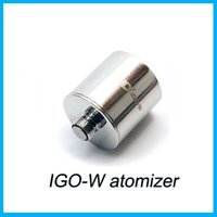 igo w - Igo w atomizer with Good Quality E cig IGO W Atomizer MOD Series SS304 Body Rebuildable Large Vape Atomizer DHL Free