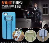 battery corkscrew - 2 In hybrid Cigarette lighter bottle opener case cover for iphone s s multifunction wild fire lighter cases corkscrew PC hard cover