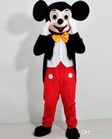 Ratón Par traje de la mascota de su Tamaño Adulto de Mickey Mouse Y Minnie Trajes de la Mascota de disfraces Traje