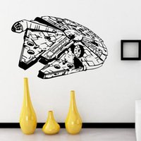 art fighter - Star Wars Millennium Falcon Fighter Living Room Vinyl Carving Wall Decal Sticker for Home Window Decoration