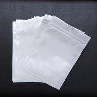 al por mayor bolsas con cremallera joyería-La mejor calidad de Clear + white de la perla plástica plástica Poly OPP empaqueta la cremallera de la cerradura del cierre relámpago Los paquetes al por menor del paquete de la comida de la joyería PVC