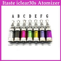 Cheap Itaste iclear30s Atomizer Replaceable Duil Coil Clearomizer Iclear 30s Atomizer for EGO Electronic Cigarette BY FAST DHL 0203085