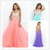 aquamarine crystals - Style Aquamarine Coral Pink Sea Glass Violet Prom Dress New One Shoulder Party Gown Long Chiffon Backless vestido de festa