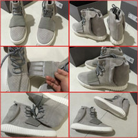Wholesale New Model Brand New Man Yeezy Boost Shoes Made By Kanye West Sneakers Original Package Limited Edition Superstar Release Gray Black