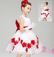 wedding dresses lot - Formal Dress Summer Dresses Children s Sleevless Wedding Dress Style Kids Petal Princess Dresses Girl Dress Children Clothes