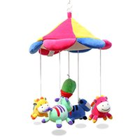 Cheap 2015 Brand Multicolor educational baby toy mobile in cot children's toys rattles stroller bed hanging baby bed music kids toy