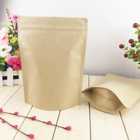 Wholesale 100pcs Brown Color Zip Lock Kraft Gift Paper Bag for Tea Packing Food Packages