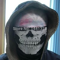 bicycle counter - Fashion Black Cosplay CS Counter Strike Outdoor Motorcycle Bicycle Ski Balaclava Ghost Skull Face Mask