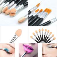 Wholesale 10 set Einweg Make Up Pinselset Lidschatten Schmink Schwamm Brush Pinsel maquiagens Set