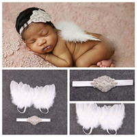 beautiful hair photos - 20SET baby Couture Fairy Angel white Wing and Sparkle Sequin Headband Set Beautiful Newborn Christening hair band Photo Prop YM6127