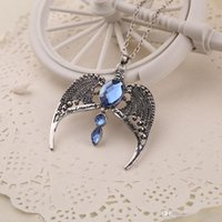 Wholesale Harry Potter Deathly Hallows Ravenclaw Crown Necklace Vintage Eagle Necklaces Harry Potter Horcrux Ravenclaw Lost Crown Necklaces