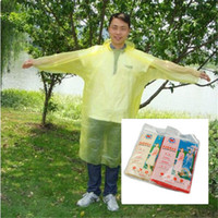Wholesale 1 Plastic Disposable Adult Rain Coat Emergency Travel Essential Outdoor Raincoat Outside Hiking Fishiing Tools