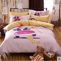 Wholesale Sheet Textile Bedding Cotton Denim Bedding Cotton Bed Linen Quilt Cute Cartoon Images