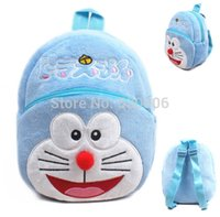 Wholesale 2015 Kawaii Cartoon Doraemon Baby Boys Girl Mini Soft Plush Backpack Kid Bag Children School Bags Birthday Gift mochila infantil