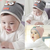 Wholesale New Unisex Infant Boys Girls Soft Hat Caps Baby Animal Owl Print Hat Cotton Caps