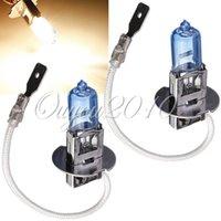 Wholesale Hot Sale H3 Pure White Halogen Bulb W K Car Auto Fog Headlight Headlamp Light Lamp DC12V