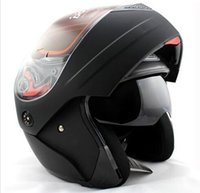 Wholesale 3 Colors Dual Visor Modular Flip Up Motorcycle Helmet Dot Size M L XL top sale latest