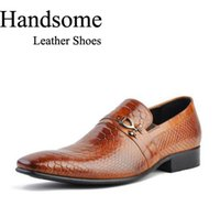 leather shoes italian men - Fashion New Italian Style luxury men shoes genuine leather pointed toe men dress shoes business men brand leather shoes