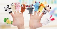 Wholesale Baby Plush Toys Cartoon Fun Animal Finger Hand Puppet Kids Learning and Education Toys Christmas Gifts