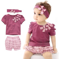 bebe hats - 2015 Summer Style Baby Clothing Set Cotton Newborn Baby Girl Clothes Sets Sleeve Romper Hat Pants Baby Boy One Pieces Bebe