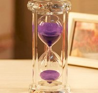 Wholesale Creative Gifts Crystal Hourglass Timer Thirty Minutes Violet