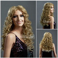 adorable hair weave - popular hair weaves blond wigs fashion long curly women Adorable wigs european women lovely sexy female wigs Free wig cap