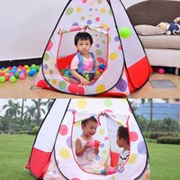 Cheap Hot Children Kids Play Tents Outdoor Garden Folding Portable Toy Tent Pop Up Multicolor Independent House