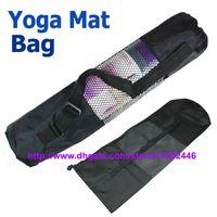 yoga mat - Fast DHL nylon yoga bag yoga mat bag carrier mesh center yoga backpack Black Color