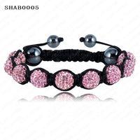 Wholesale Sales Promotion mm Crystal AB Clay Disco Ball Shamballa Bracelets amp Bangles Mix Colours Options pulseira SHABSmix1