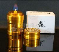 Wholesale The new alcohol lamp golden dragon aluminum alloy Mini handheld metal alcohol lamp Send the wick