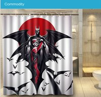 batman curtains - 2016 Bathroom Docor Harley Quinn And Batman Shower Curtain cm Waterproof Polyester Bath Curtain