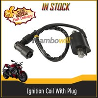 Cheap 12V Ignition Coil Replacement With Plug Strengthen Energy Fit Most 150cc 200cc 250cc ATV Moped Pocket Bike Dirt Bike Scooter Go-Kart